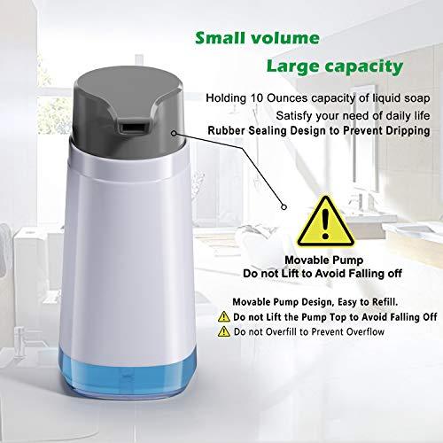 Dish Soap Dispenser for Kitchen 10oz/300ml Rustproof ABS BPA Free Bottle Liquid Hand Soap Dispenser Pump