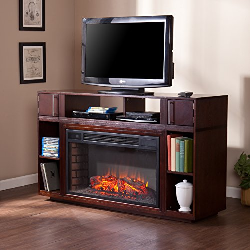 (Southern Enterprises Bexley Media Fireplace - Espresso)