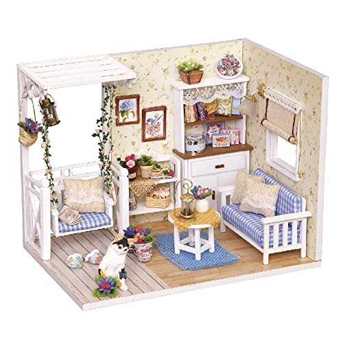 Dreams Assembling DIY Miniature Dollhouse Kit Perfect Gift for Valentine's Day-Kitten Diary