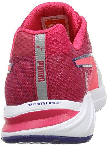 Faas 300 01 W S da ginnastica Bianco White scarpe fluo da Weiß Pink Pink donna V2 virtual Puma dq7C5d