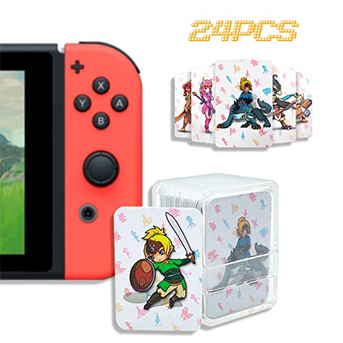 24 Pcs NFC Tag Game Cards for The Legend of Zelda – Breath of The Wild (BotW), Compatible for Switch/Wii U/3DS XL with…