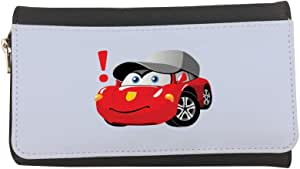 Printed Leather Case Wallet, Cartoon characters - car