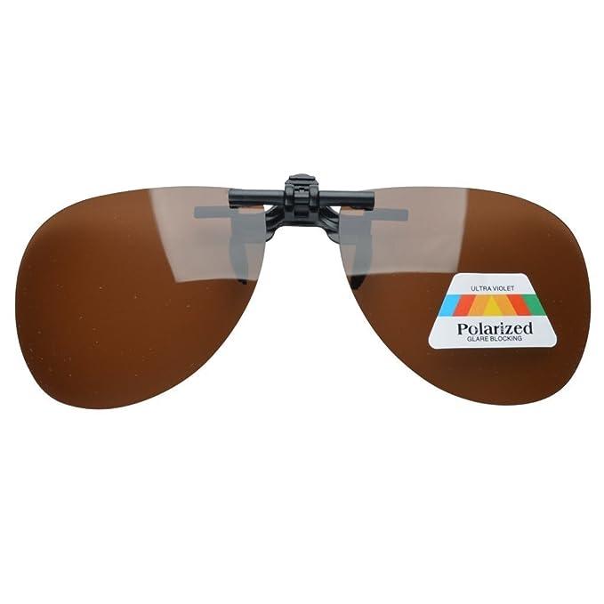 Eyekepper Pilot Sonnenbrillen Clip für Brillenträger Braun