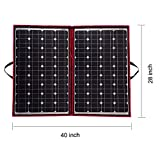 Dokio Powerful and Multipurpose Solar Panel 100W   Throw away the heavy battery  This solar panel packs 100W of power, but it only weighs a mere5.2lbs(2.4kg), Free new solar controller (Original price $25) !!!   High Performance  Packs with 100W powe...