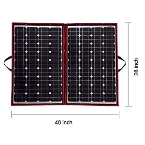 51KW6BnGuhL. SS300  - Dokio 100 Watts 12 Volts Monocrystalline foldable Solar Panel with Charge Controller
