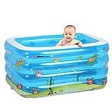 Baby swimming pool/Rectangular pool of print/Baby super pool/Leisure pool/Pool game-A