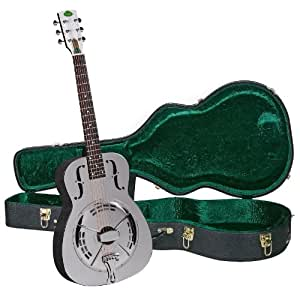 regal rc 4 metal body duolian guitar nickel plated brass with deluxe hardshell. Black Bedroom Furniture Sets. Home Design Ideas