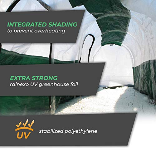 Bio Green SD300 Superdome Growtunnel, Garden Cl Length 9.8 x Width 2.3 ft, 2.6 x 2.3X 9.8', Transparent/Green by Bio Green (Image #4)