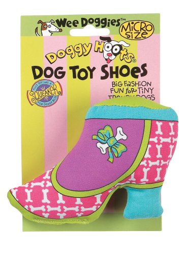 Doggy Hoots Wee Doggies Micro Dog Toy Shoes Itty Bitty Boot, My Pet Supplies