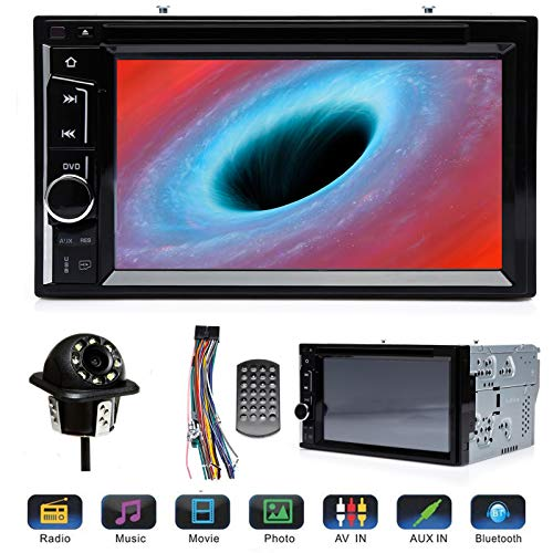 (Double 2Din Car Stereo with Backup Cam 6.2