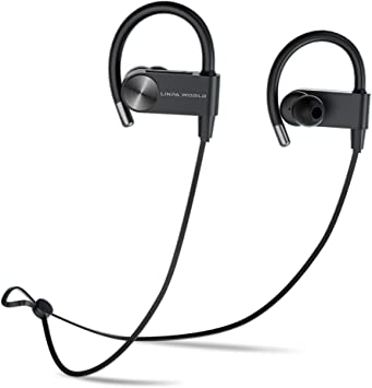 Bluetooth Headphones Sports 5 0 Linpa World Wireless Earbuds Waterproof Ipx7 Bluetooth Earphones Hifi Stereo Deep Bass With Microphone 12 Hours Playtime For Workout Running Headset Black Amazon Ca Electronics
