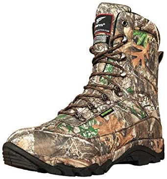 8 Fans 9 Inch 800G Men's Lightweight Waterproof Hunting Boots, Insulated Realtree Camo Boots with Memory Foam Insole