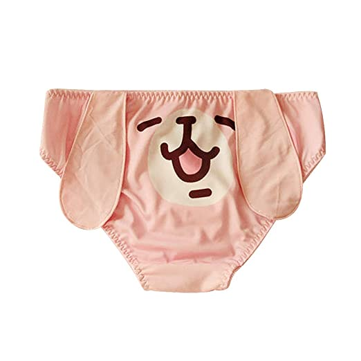 77d6ff8b6daa Amazon.com: YOMORIO Womens 3D Ears Panties Girls Cute Animal Underwear  Cartoon Bunny Briefs Plus Size (Pink): Clothing