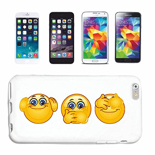 "cas de téléphone iPhone 7+ Plus ""NIX ENTENDRE RIEN VOIR RIEN DIRE SMILEYS ""SMILEYS SMILIES ANDROID IPHONE EMOTICONS IOS grin VISAGE EMOTICON APP"" Hard Case Cover Téléphone Covers Smart Cover pour Appl"
