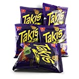 Takis Extreme Hot Chili Pepper & Lime Tortilla Chips- 4 OZ (Pack of 5.) Face the Intensity!!!