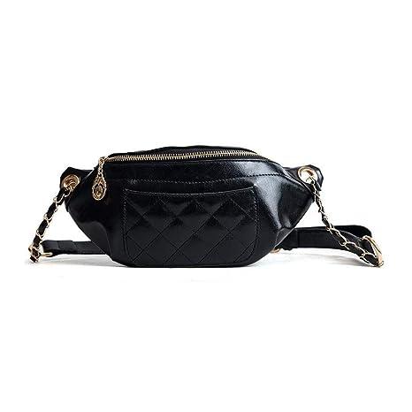 fca2fdace763 Amazon.com : HAOLIEQUAN Waist Pack Ladies Waist Bag Fashion Brand Pu ...