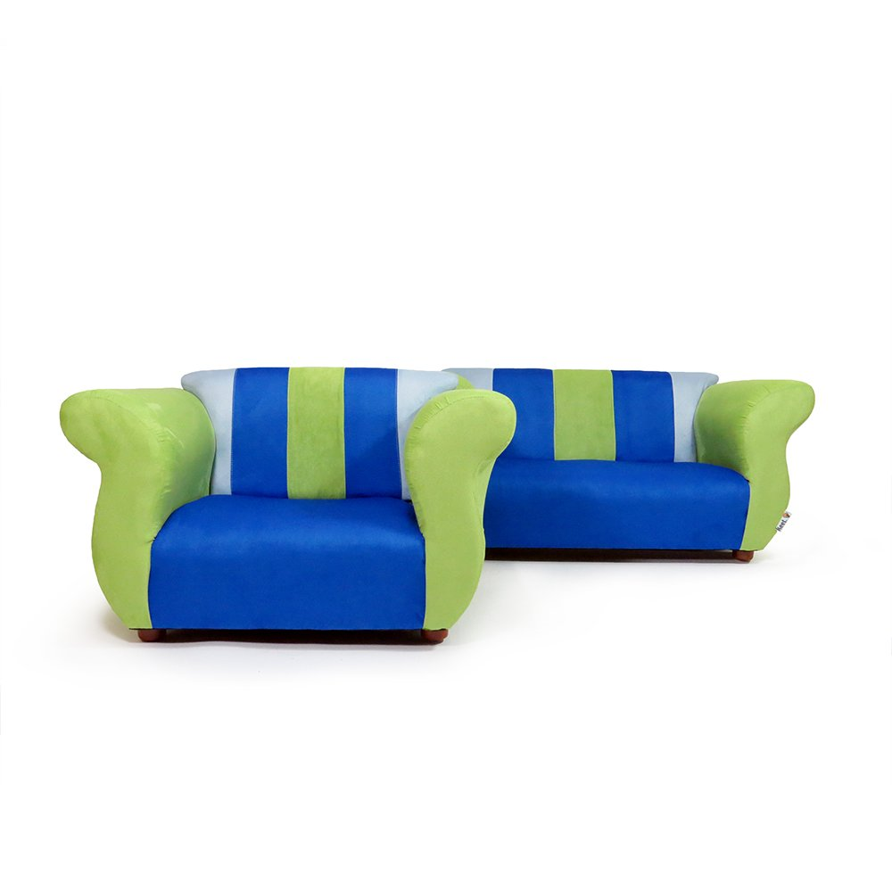 Amazon.com: keet de sofá y silla Fancy Kid s Set, Azul ...
