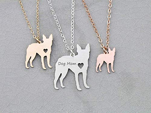 Boston Terrier Necklace - IBD - Dog Person Gift - Personalize Name Date - Pendant Size Options - 935 Sterling Silver 14K Rose Gold Filled Charm - Fast 1 Day Production