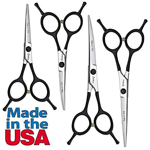 Geib Gator Trim 'n' Cut Dog & Pet Grooming Shears - 2 Sizes Straight or Curved(5.5 Inch Straight)