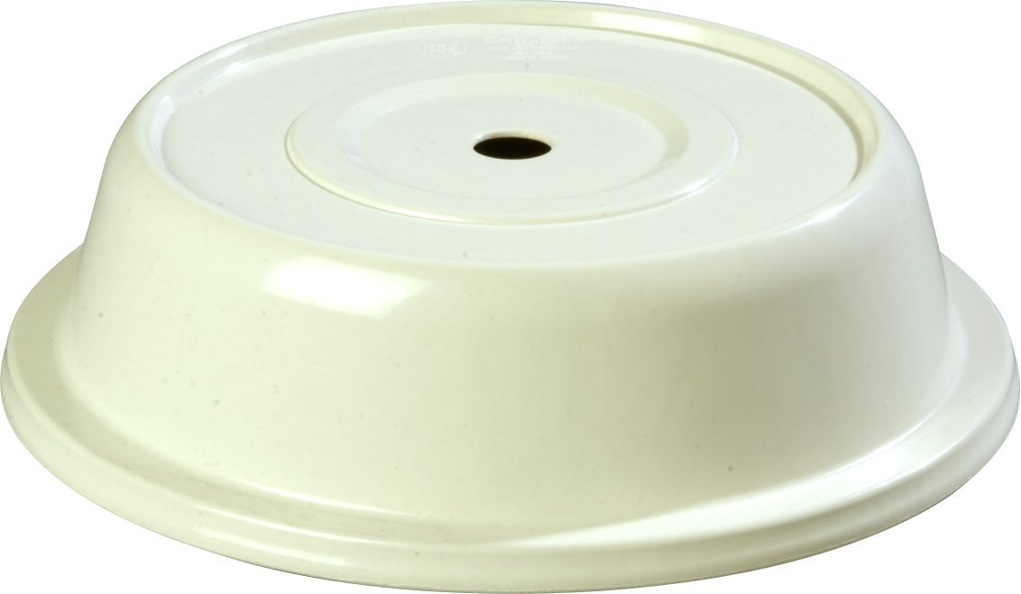 Carlisle 91040202 Polyglass Plate Cover, 10.19'' Bottom Diameter x 2.5'' Height, Bone (Case of 12)