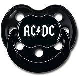 """Baby Schnuller: """"AC/DC"""" (Schwarz)"""