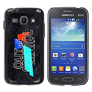 LECELL -- Funda protectora / Cubierta / Piel For Samsung Galaxy Ace 3 GT-S7270 GT-S7275 GT-S7272 -- Out Of Control --