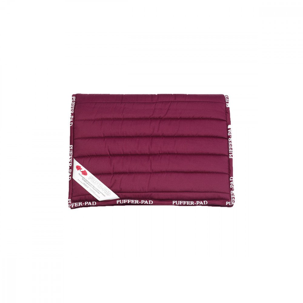 Burgundy Puffer Zilco Pad Saddle Pad Endurance Saddle Cloth
