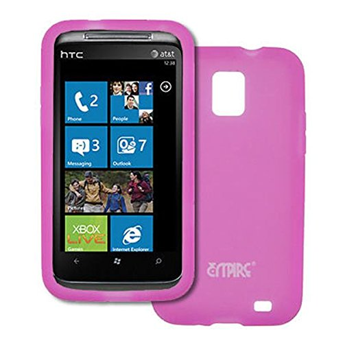EMPIRE Hot Pink Silicone Skin Case Cover for AT&T Samsung Focus S