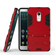 Xiaomi Redmi Note 4X Heavy Duty Case DWaybox 2 in 1 Hybrid Armor Hard Back Case Cover for Xiaomi Redmi Note 4X / Xiaomi Redmi Note 4 / Hongmi Note 4 5.5 Inch (Marsala Red)