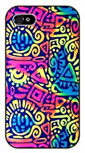 iPhone 4 / 4s Aztec Pattern - black plastic case / Art, hipster, tribal