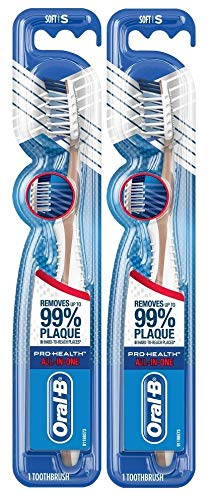 Oral-B Pro-Health All-In-One Cross Action Toothbrush, Soft – Pack of 2