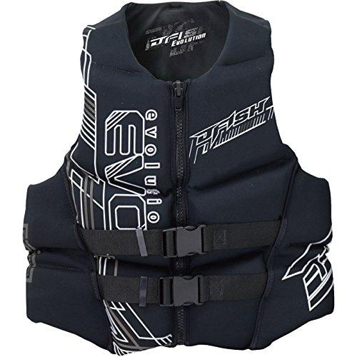 ジェイフィッシュ ライフジャケット ネオプレン JNV381 ウエット素材 JCI予備検査認定 ジェットスキー水上バイク 水上オートバイ メンズM ブラックホワイト B07DM4TYRX