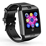 Bluetooth Smart Watch Q18 ZRSJ Touch Screen Smartwatch with Camera SIM/TF Card Slot Sleep Monitor Pedometer Fitness Tracker Smartphones for Android Smartphones IOS Samsung Motorola Men Women Kids Boys Girls (Black)