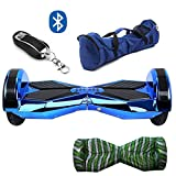 Gooplayer X1L8-UL2272 Certified Hoverboard-8 Inch Lanborghini Electric LED on Wheel Self-Balancing Scooter with Bluetooth (Chrome Blue)