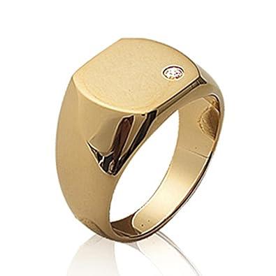 bca4d55429369 Isady Charming Gold - Bague Mixte Homme Femme - Chevalière - 750 000 (18