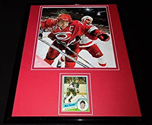 Ron Francis Signed Framed 11x14 Photo Display Hurricanes Penguins Whalers