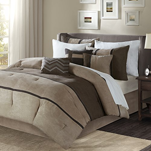 Palisades 7 Piece Comforter Set Brown Cal King (Sets Platform Bed Comforter)