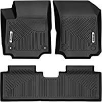 Rear oEdRo Floor Mats Compatible for 2018-2019 Chevrolet Equinox Full Set Liners Unique Black TPE All-Weather Guard Includes 1st and 2nd Row: Front