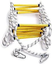 Brandwerende Reddingsladder Touwladder, 3m-50m Brandladder Zwaar, Multifunctionele Ladder Met Karabijnhaken, Voor Snel Gebruik Bij Brand (30m/98.4FT)