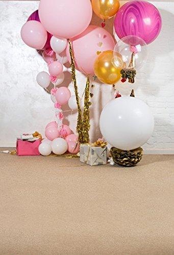 Leyiyi 6.5x10フィート 写真撮影用背景幕 子供の誕生日 1歳のB日のパーティーに お祝い用の花飾り タッセル付きバルーン ギフト ケーキテーブル 平床 ベビーシャワー 写真 ポートレート ビニール スタジオ小道具   B07GGZMFCR