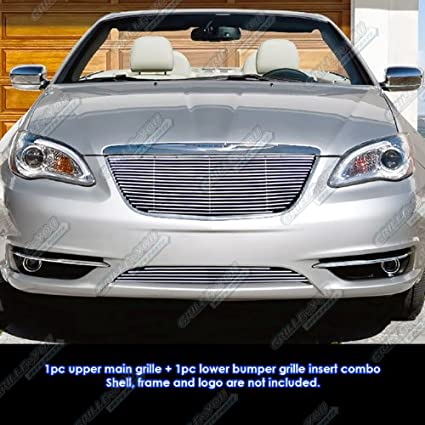 2012 Chrysler 200 Grill >> Amazon Com Aps Fits 2011 2014 Chrysler 200 Billet Grille Grill