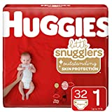 Huggies Little Snugglers Baby Diapers, Size 1, 32 Count (Packaging May Vary)