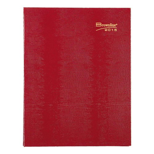 Brownline 11 X 8.5 Inches 2015 Coilpro Monthly Planner, 14 Months for December 2014 - January 2016, Red