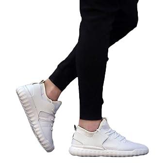 JiaMeng Zapatillas Deporte Hombre Zapatos para Correr Athletic Cordones Air Cushion Casuales de Moda Transpirable Zapatillas Tejidas Parejas Zapatos: ...
