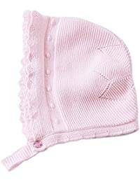 Toddler Girl Autumn Winter Pink Lace Bonnet Baby Hats 0-18M