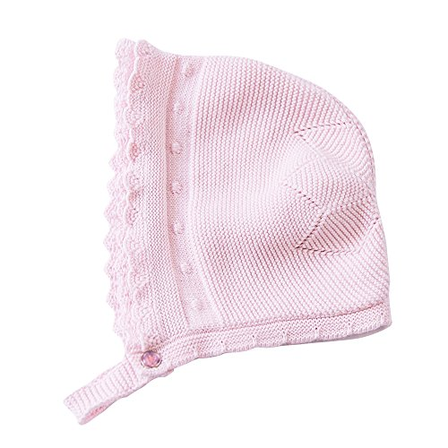 Toubaby Toddler Girl Autumn Winter Pink Lace Bonnet Baby Hats 0-18M (0-6M, pink 1)
