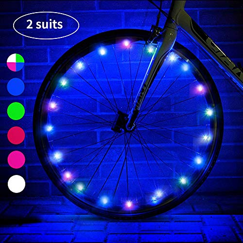 esonstyle LED Bike Wheel Lights with Batteries Included ,Waterproof LED Bicycle Spoke Light, Cool Safety Bike Tire Accessories, Light Up Spokes