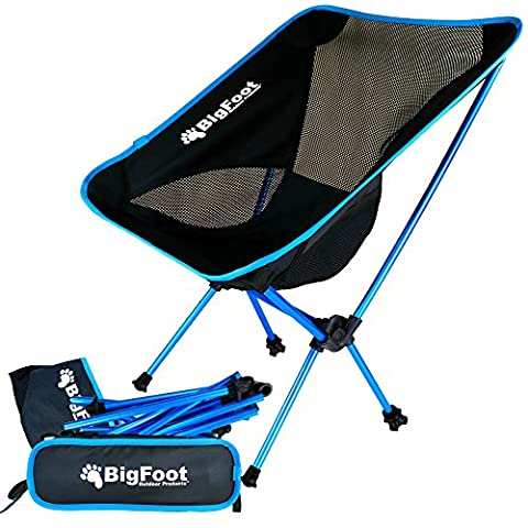 BigFoot Outdoor UltraLight Folding Backpacking Chair - Great for Camping, Hiking, Trekking, Fishing (Bigfoot Products)