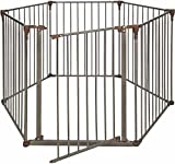 Cheap Crown Pet Products Convertible Pet Yard & Gate with Extra Wide Door/Indoor Outdoor Dog Exercise Playpen, Dark Bronze/Brown