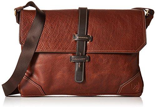 Price comparison product image Allen Edmonds Men's Grain Messenger Bag, Brown Pebble